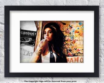 Amy Winehouse - Mounted & Framed Art Print