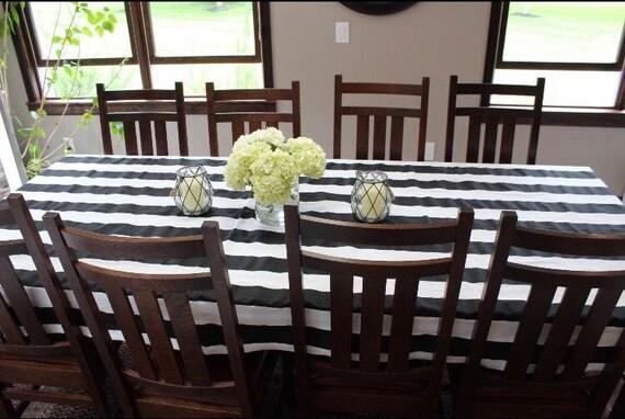 Black White Stripe Tablecloth | Kate Spades Theme Wedding | Wedding  Tablecloth | Black And White Striped Table Runner | Bridal Shower | Baby
