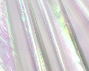 "Mermaid Wedding Iridescent opalescent  table cover 54"" X 102""  Reusable"