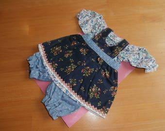 Set of doll's clothing - dress - apron