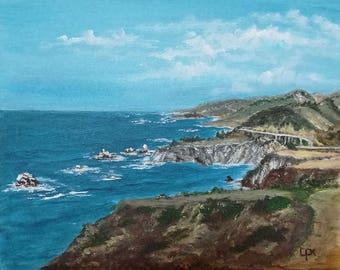 Big Sur, Landscape, original Acrylemälde on canvas, modern