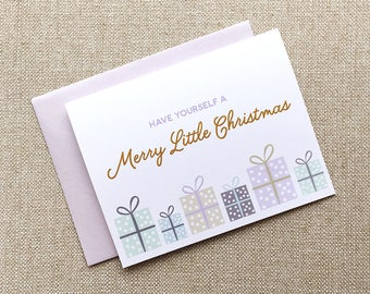 BUNDLE OF 6 |  Have Yourself a Merry Little Christmas Greeting Card
