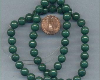 "16"" Strand of 8mm Mt. Jade Beads: Green"