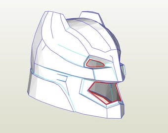 Batman helmet (paper template)