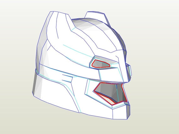 Batman Helmet paper template Bonus Neck Armor Pattern