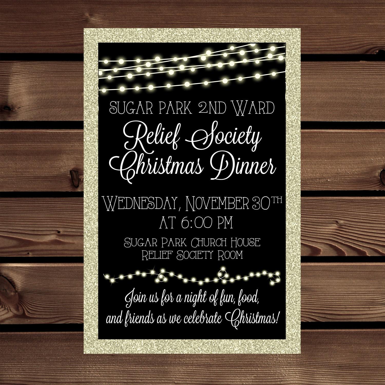 LDS Christmas Invitation Relief Society Invitation Christmas