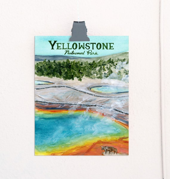 Yellowstone, Wyoming National Parks Travel Poster *OLD*