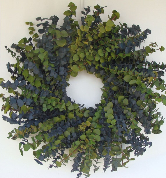 Sage and Blue Eucalyptus Wreath- Other Colors Also Available 16, 20 or 24 Inch Diameter