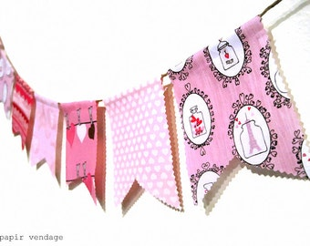 Valentine Bunting Banner, Ready2SHIP, Love Potion #9 Bunting Banner, Febuary Bunting Banner, Paris Pink Bunting, Valentines Fotografie Prop