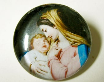 Madonna and child lapel pin/brooch - BR02-013