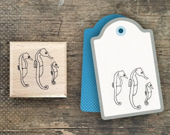 Sea Horses Rubber Stamp