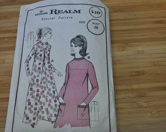 Vintage 1950s dress  Pattern.  Woman's Realm Special Pattern L247 Size 14. Bust 36.