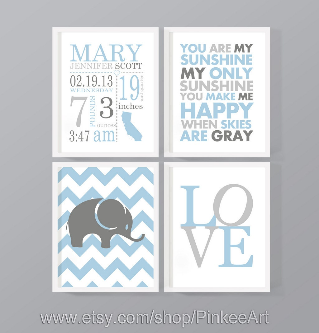 Birth stats subway art personalized baby prints custom birth zoom negle