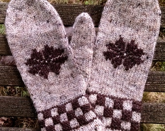 Check Me Out Mittens Knitting Pattern