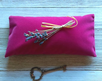 Handmade Organic Lavender Eye Pillow: Give the Gift of  Relaxation! Pink Velvet/ Aromatherapy/ Self Care/ Gift Basket