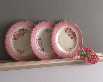 """Wood and Sons - 3- 5-3/4"""" saucers -retro - mid century - vintage - Stirling"""