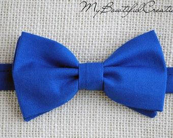 Royal blue bow tie, bow tie for men, boys bow ties, wedding bowtie, groom boy tie, blue bowtie, boy bow tie