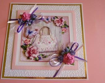 Ladies Handbag Birthday Card