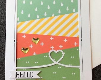 Hello, Friendship, Handmade, stampin up, card, friends, hearts