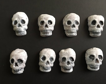 skulls 2 inch hand painted and sculpted