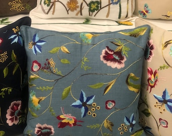 Lily Flower - Hand Embroidery Cushion Cover