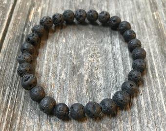 Lava Bead Bracelet, Lava Rock Bracelet, Essential Oil Bracelet, Diffuser Bracelet, Chakra Jewelry, Lava Rock, Lava Mala, Mala Bracelet,