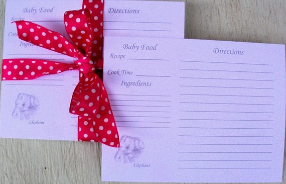 Recipe cards baking recipe card baby food recipe card elephant recipe cards baking recipe card baby food recipe card elephant recipe card baby shower gift index recipe cards art 16 pc from forumfinder Choice Image