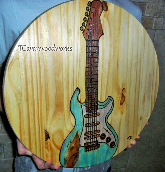 Guitar painting Electric guitar art guitar wall art