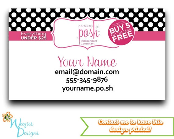 Perfectly posh business card direct sales marketing colourmoves