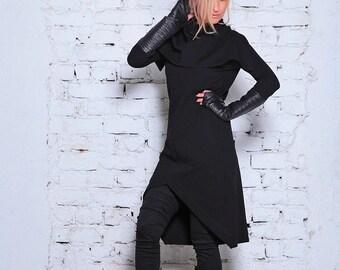 Elven Dress/ Winter Tunic/ Elven Clothing/ Sweater Dress/ Long Boho Sweater/ Winter Dress/ Sweater Tunic/ Cowl Dress/ Festival Tunic