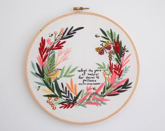 PDF Digital Download - Artist Series - Pace of Nature Embroidery Pattern - Thread Folk and Lauren Merrick