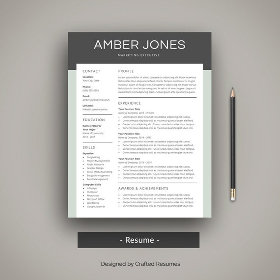 Modern Resume Template Professional Cv Template Creative
