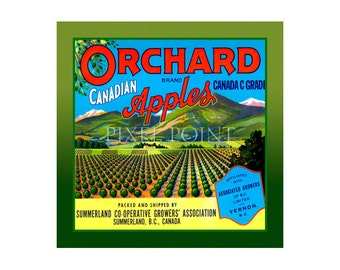Garden Journal - Orchard Brand Apples - Fruit Crate Art Print Cover