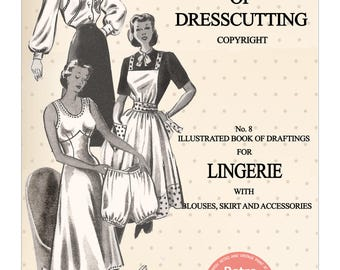 The Haslam System of Drescutting Lingerie No. 8 Lingerie - PDF Booklet Instant Download