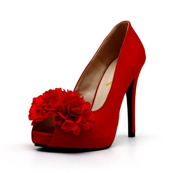 flower wedding shoes items similar to satin wedding shoes with fabric 4243