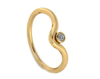 Womens Solitaire Diamond Ring, Diamond Engagement Ring, Solitaire Engagement Ring for Her, Gold Solitaire Ring, Gold Engagement Ring