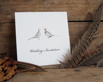 Pheasants Wedding Invitations