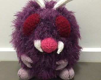 Venonat Pokemon #48 Knitting Pattern PDF