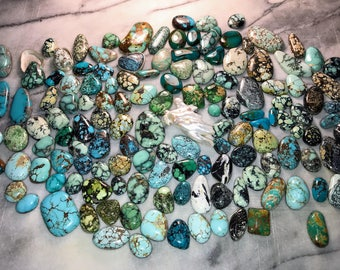 Turquoise and Variscite Cabs