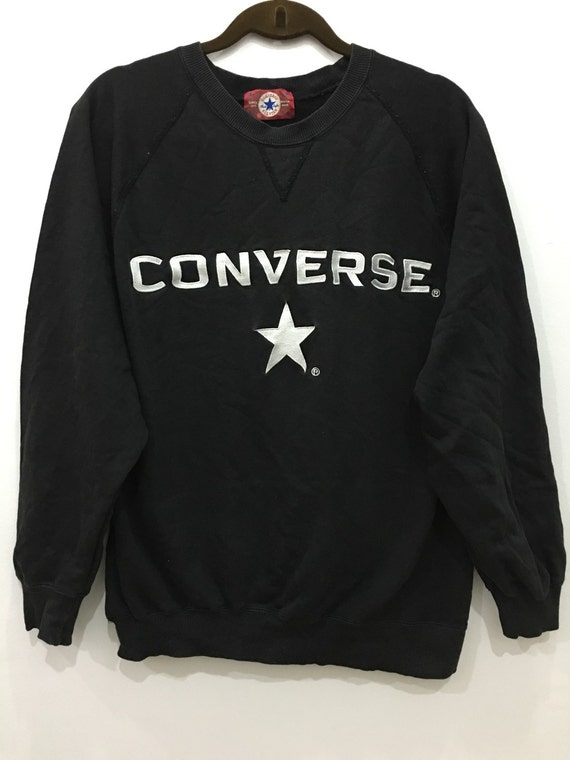 black converse jumper