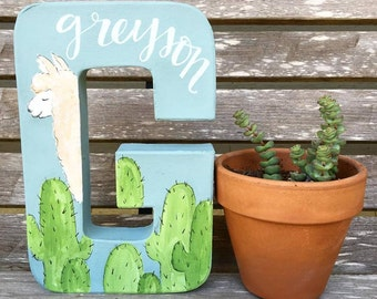 Custom Hand Painted Letter w/ Name