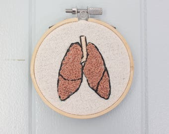 Lung Anatomy Embroidery