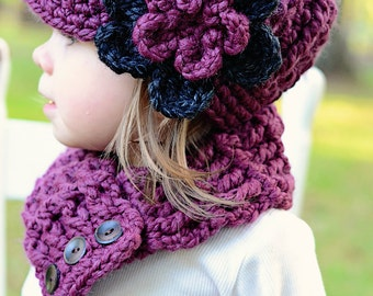 Girls Hat 33 Colors 4T to Preteen Toddler Girl Hat Toddler Hat Crochet Flower Hat Flower Beanie Crochet Hat Knit like Girls Clothing Flapper