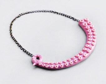 Octopus necklace / statement, bib necklace, tentacle, sea, sea creature