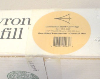"""Vintage NOS Dead Stock Xyron Refill Lamination Refill Cartridge SL 1101-100 12.2"""" Wide x 100' One Sided General Use Art Crafts Sealed BIN"""