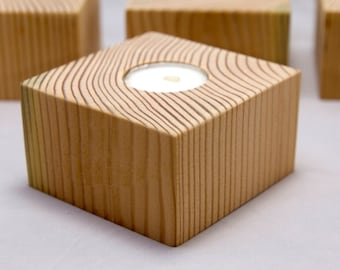 Reclaimed Wood Votives