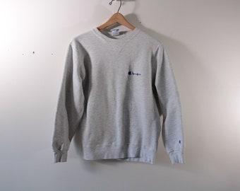 Vintage Champion sweatshirt in heather gray
