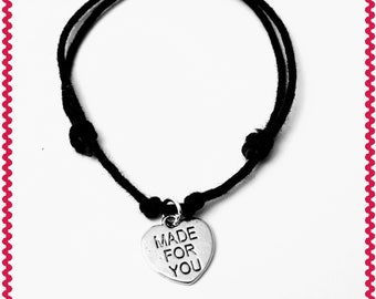 Handmade Friendship Charm Bracelet Or Necklace On A Fully Adjustable Waxed Cord With Many Charm Choices Available