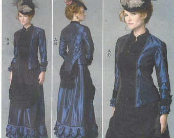 Nancy Ferris Thee Womens Victorian Top and Skirt Butterick Sewing Pattern B6305 Size 16 18 20 22 24 Bust 38 to 46 UnCut