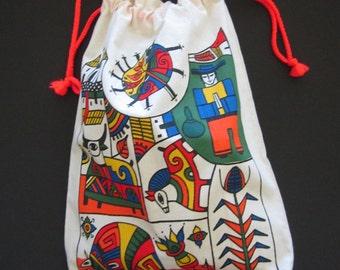 Bolsa de Manta con Serigrafia /Bag with Fernando Llorts designs Silkscreen